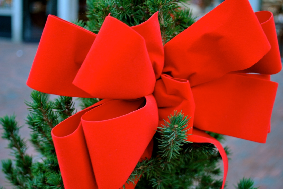It's amazing how much a simple red bow can add to the holiday spirit.