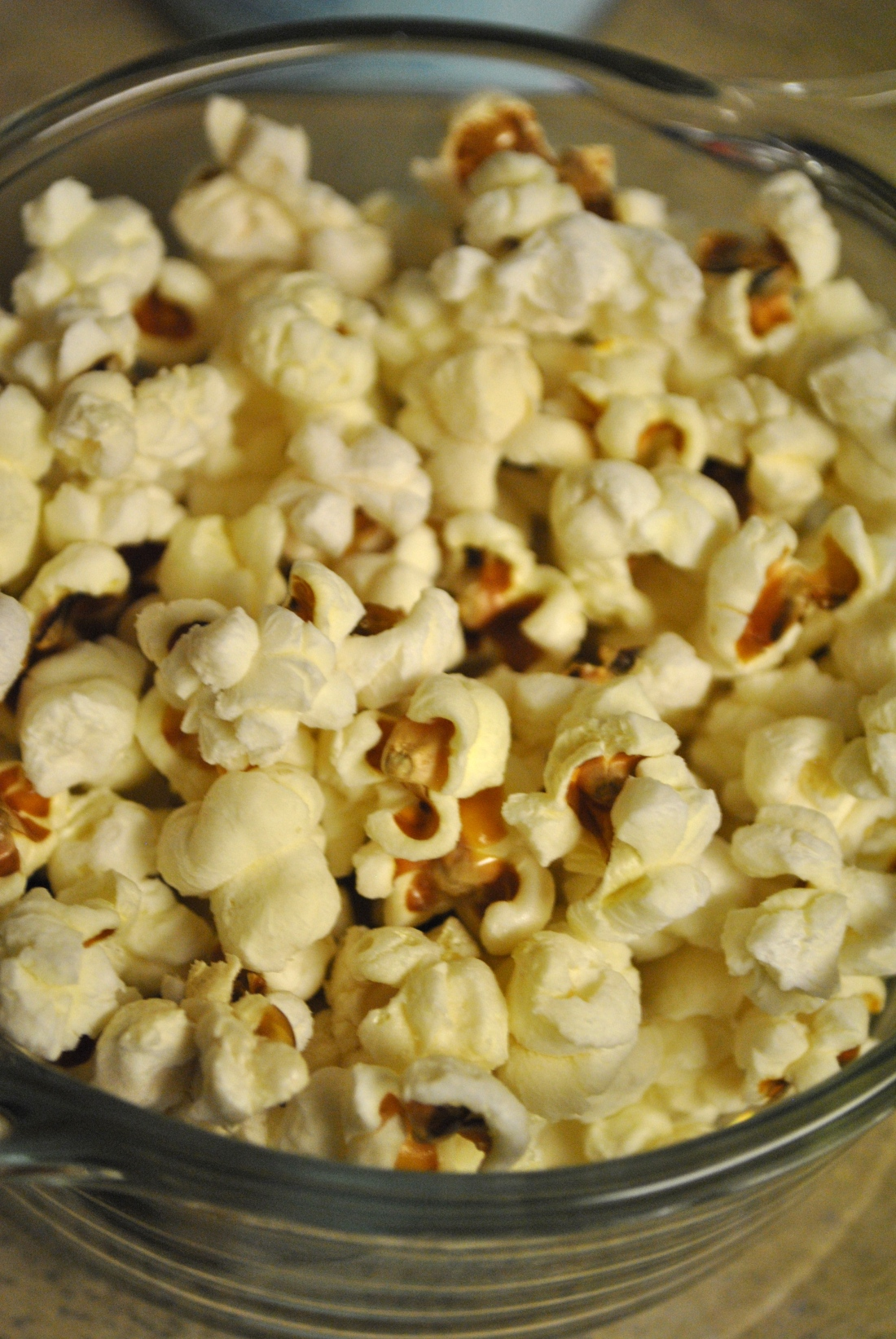 Perfect Popcorn: a perfect study break snack, made with olive oil and just a touch of butter and salt.