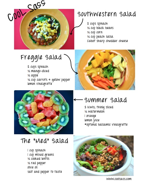 Four super easy summer salads- all gluten-free and all healthy!