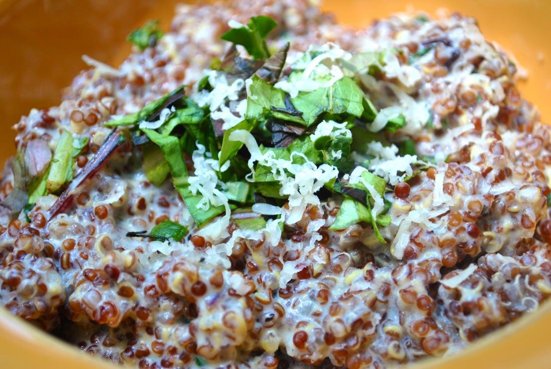 """Cheddar Quinoa """"Risotto"""""""