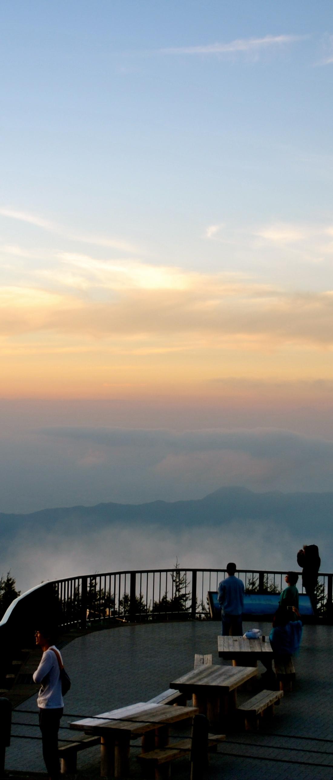 Sunset at cloud level at Station 5 of Mt. Fuji