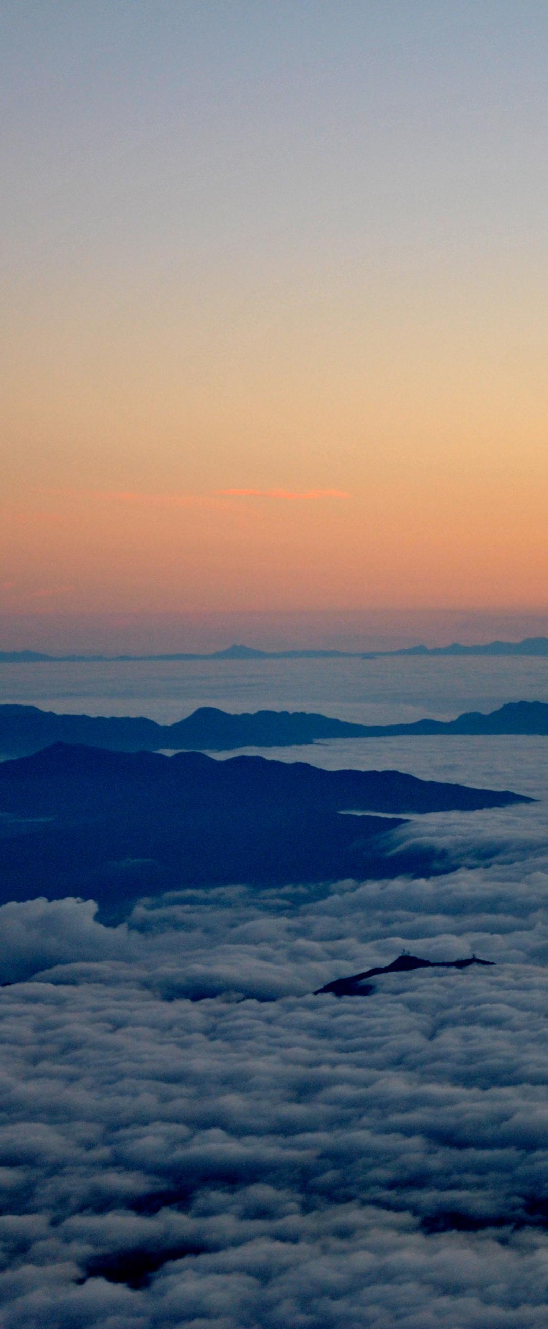 Sunrise at 13,000 ft. on the summit of Mt. Fuji