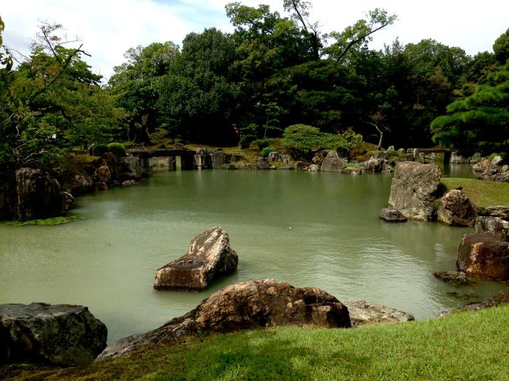Beautiful grounds of Nijo Castle in Kyoto, Japan